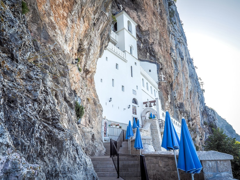 Staircase to Ostrog Monastery main building