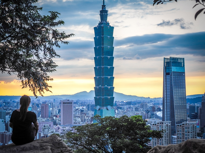 View of Taipei from Elephant Mountain, a great free thing to do in Taipei during Lunar New Year