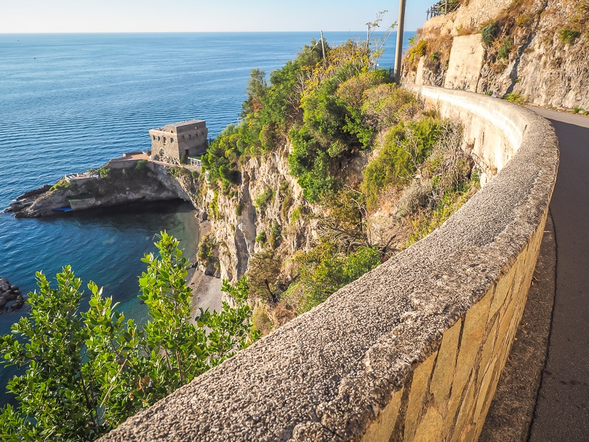 The main road if you are driving or hiking to Erchie, with views of the Erchie coast