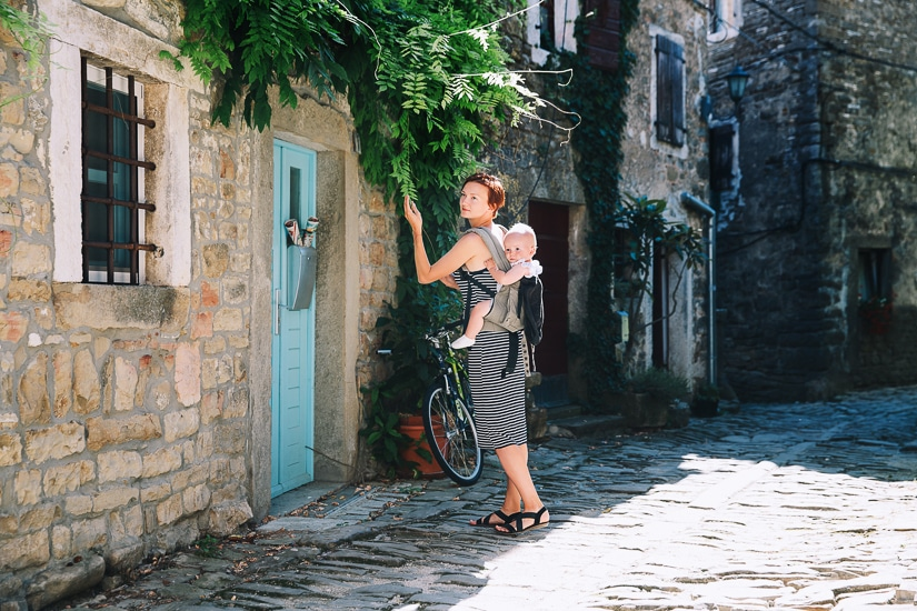 If visiting Croatia with a toddler or baby, a good child carrier like this one is a must.