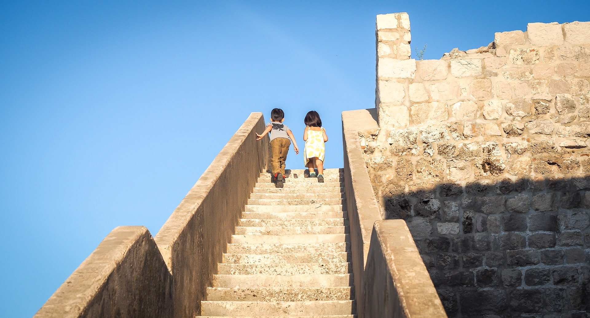 Walking the city walls of Dubrovnik is one of the best things to do in Croatia with kids