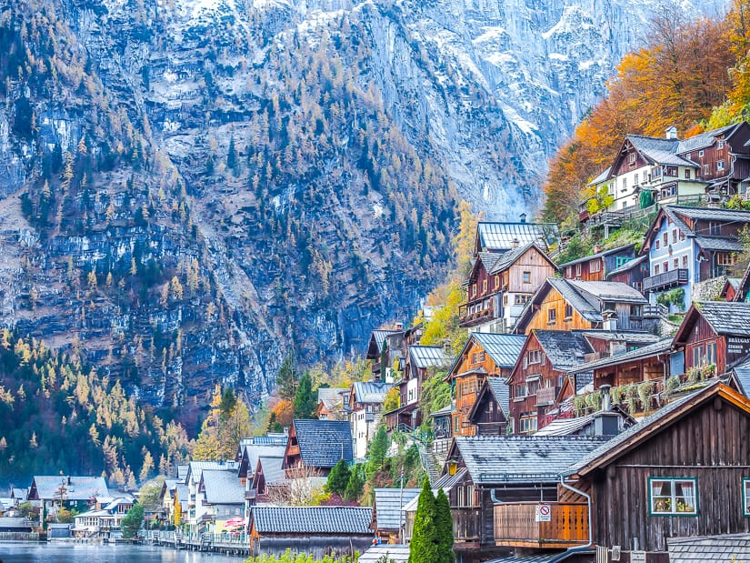 Hallstatt, one of the most popular places to visit with kids in Austria