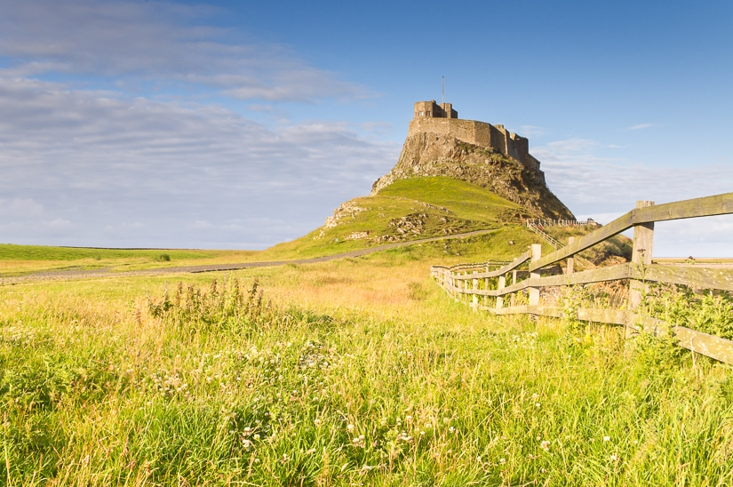 Lindisfarne Castle, Holy Island, destination of Cuthbert's Way pilgrimage in XXX