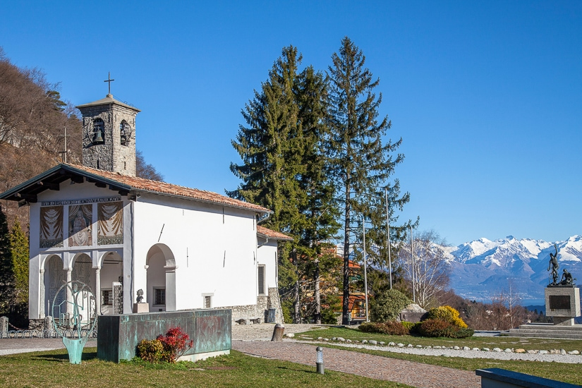 Madonna del Ghisallo church on the pilgrimage from Rome to Lake Como