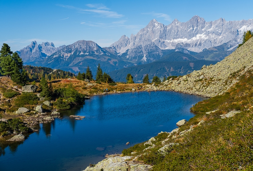 Spiegelsee Lake, one of the prettiest lakes in Austria