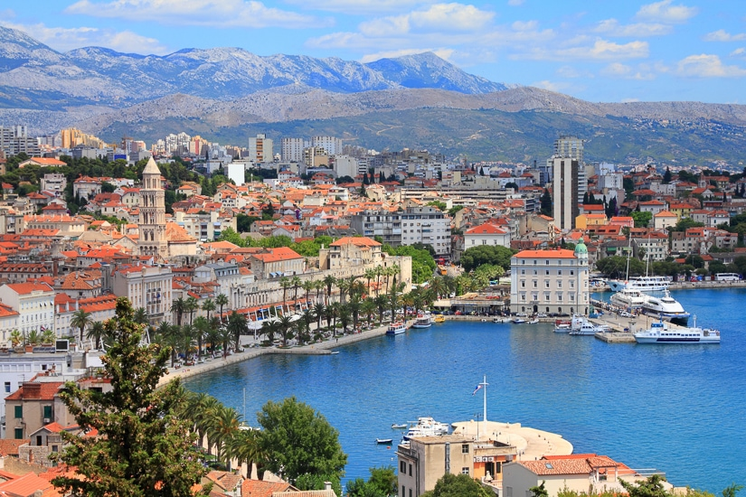 Aerial view of Split, one of the best places to visit in Croatia with kids