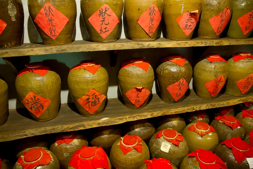 Traditional Taiwanese wine pots in Yilan City