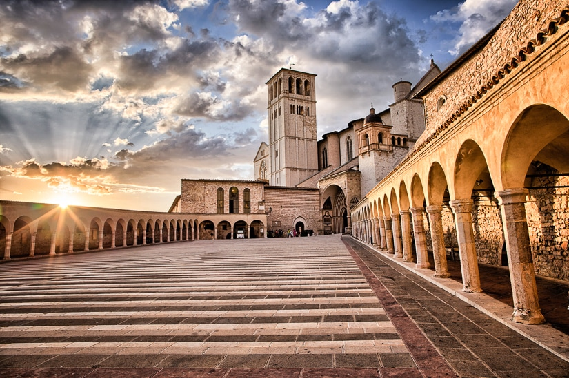 St. Francis Basilica, Assisi, part of the Via di Francesco pilgrimage from Florence to Rome