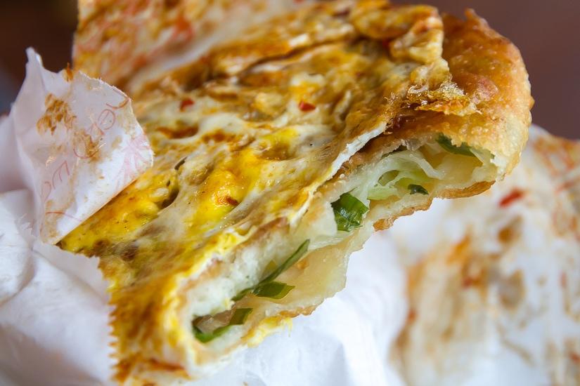 Green onion cake from Sanxing, Yilan