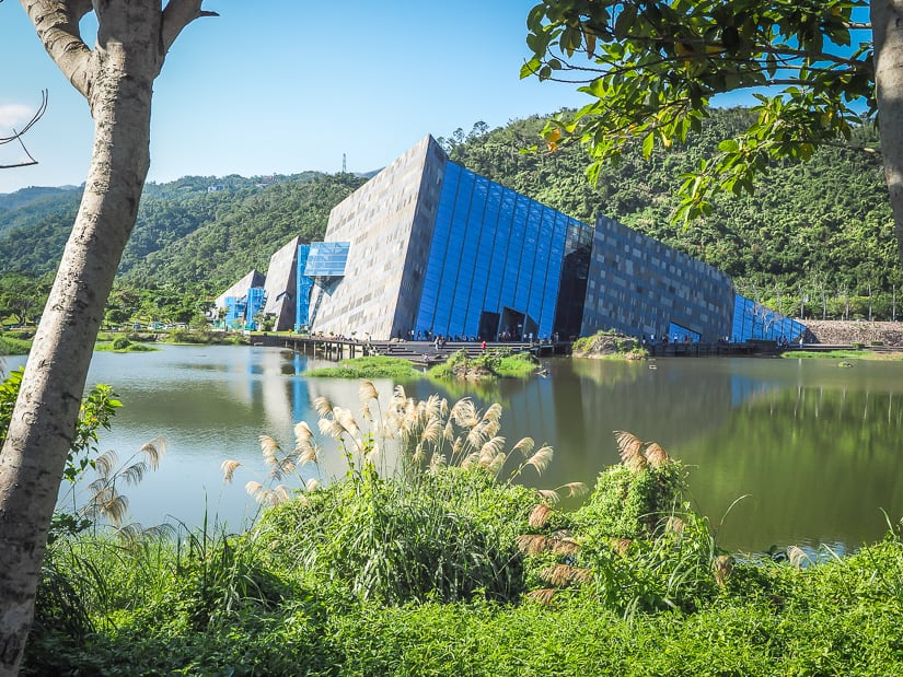 View of the outside of Lanyang Museum, Yilan County, Taiwan