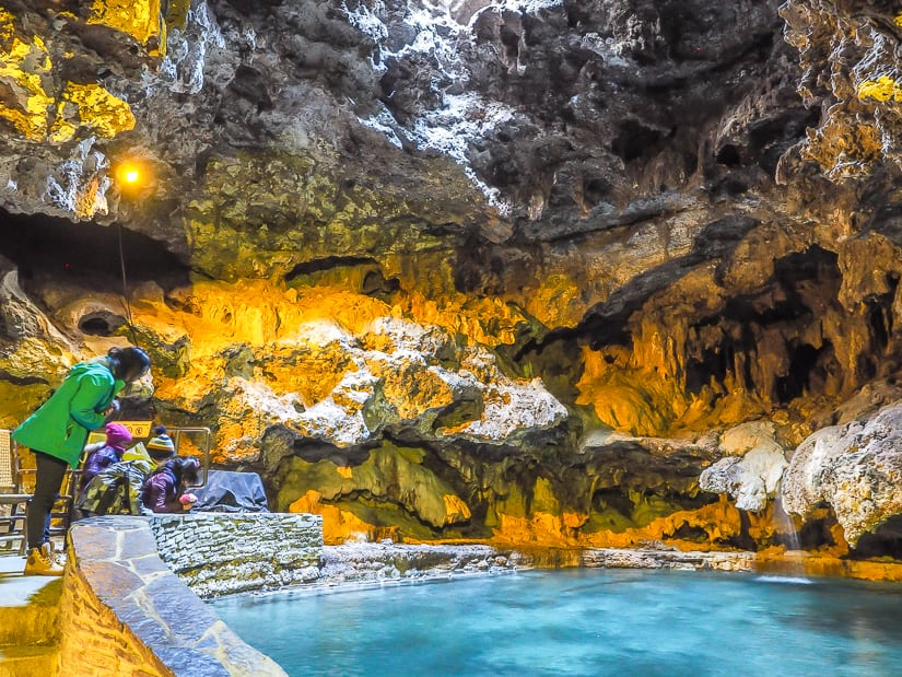 Hot spring cave at Cave and Basin in Banff