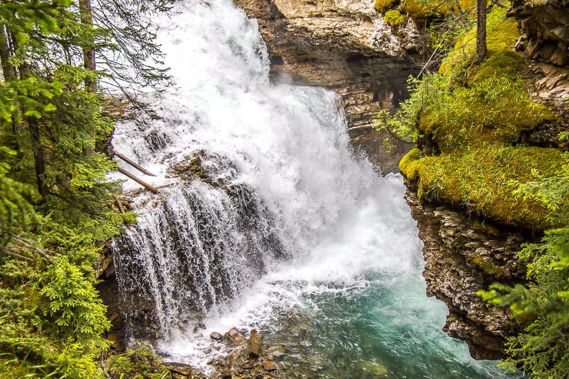 One of several waterfalls in Johnston Canyon, Banff National Park