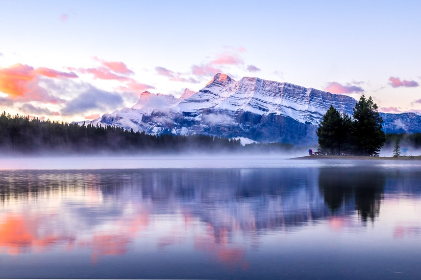 Sunrise at Two Jack Lake, Banff National Park