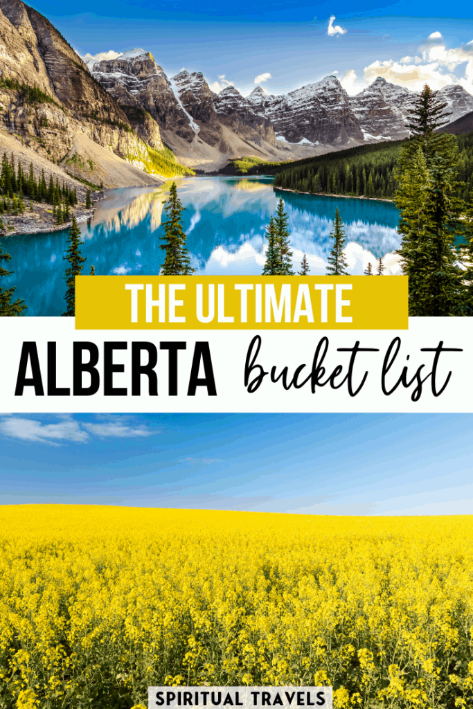 Here's an absolutely epic Alberta bucket list, including 45 MUST things to do in Alberta, Canada. Written by a local Alberta, the article covers everything from the Rocky Mountains to the Great Prairies. | Alberta road trip | canada bucket list | alberta photography spots | alberta travel #alberta #canada