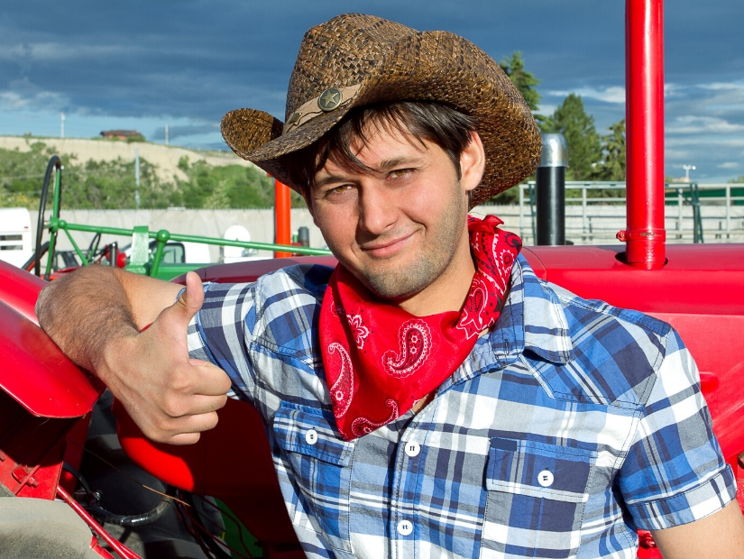 Cowboy at Calgary Stampede, one of the biggest Alberta festivals