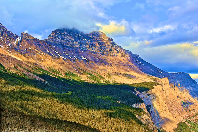 Cirrus Mountain on the Alberta Icefield Parkway drive