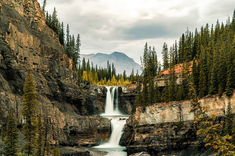 Crescent Falls, one of the most beautiful waterfalls in Alberta