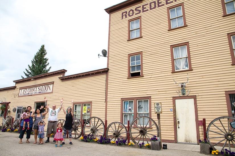 My family at Last Chance Saloon, Wayne, Alberta