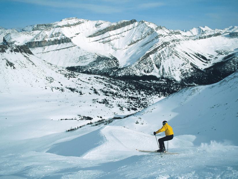 Skier at Lake Louise, Alberta
