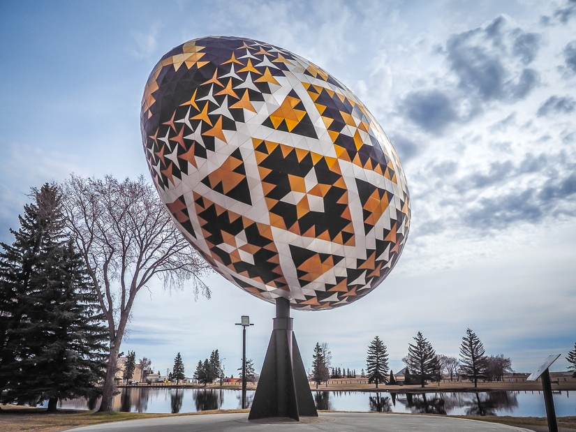 Giant Easter Egg in Vegreville, Alberta, one of the most unusual roadside attractions in Alberta