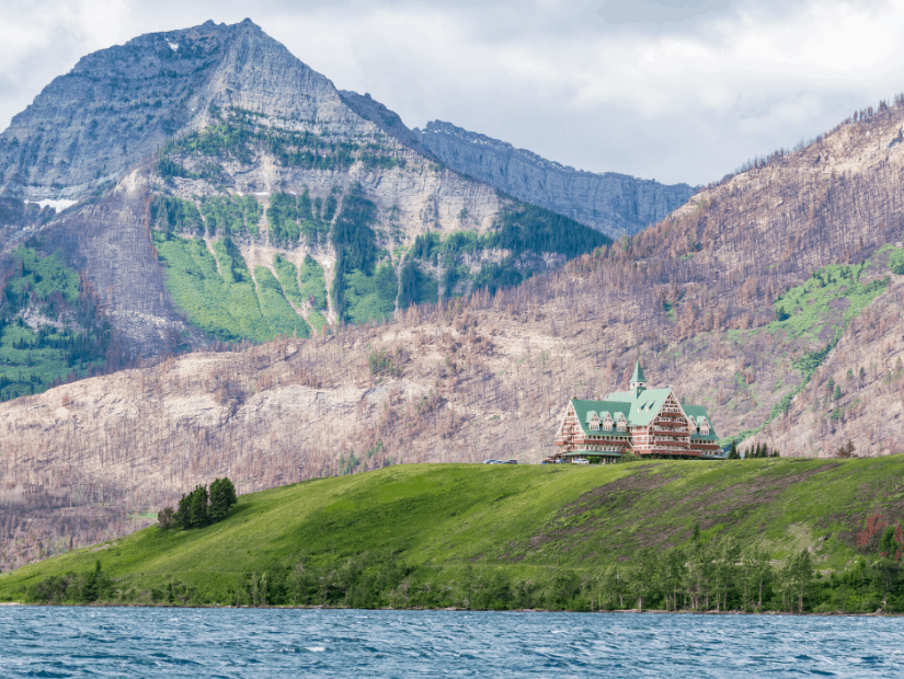 The Prince of Wales Hotel National Historic Site in Waterton Lakes National Park