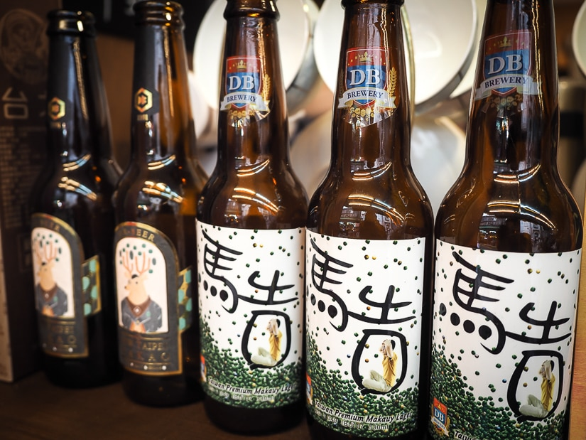 Aboriginal maqaw beer sold from an Wulai cafe