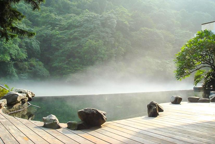 Hot spring spa at Volando Urai Hot Spring Resort, the best hot spring in Wulai