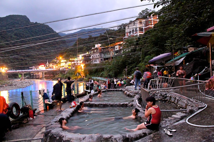 Wulai hot spring in the early evening