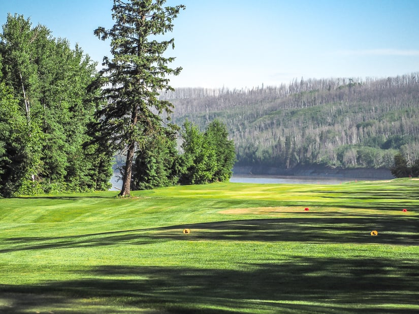 Miskanaw Golf Club on Macdonald Island, one of the best golf courses in Fort McMurray