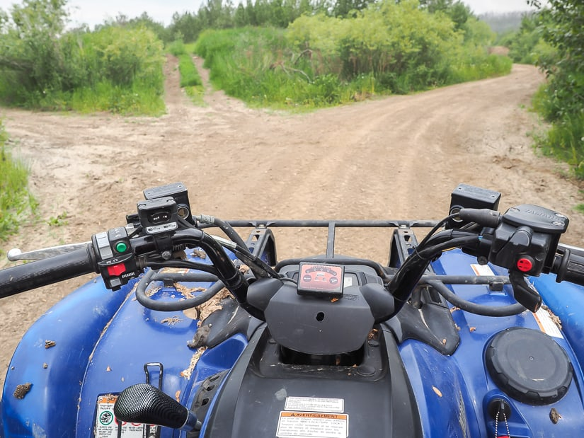 Riding a quad in Fort McMurray