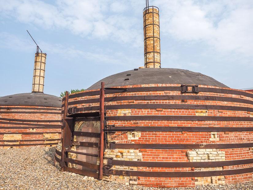 Exterior of beehive kilns at Medata, Medicine Hat