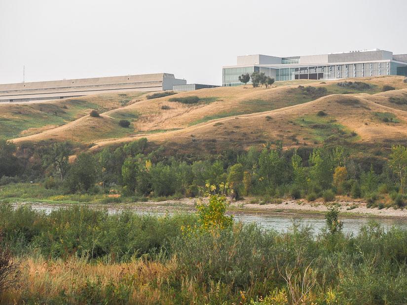 View of Lethbridge University across the river from Botterill Bottom Park