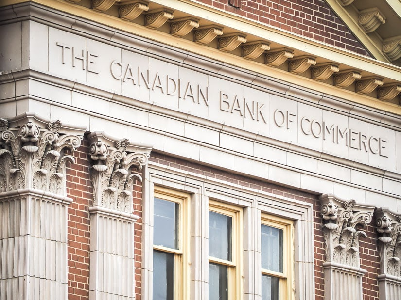 Canadian Bank of Commerce building, one of the historic buildings in downtown Medicine Hat