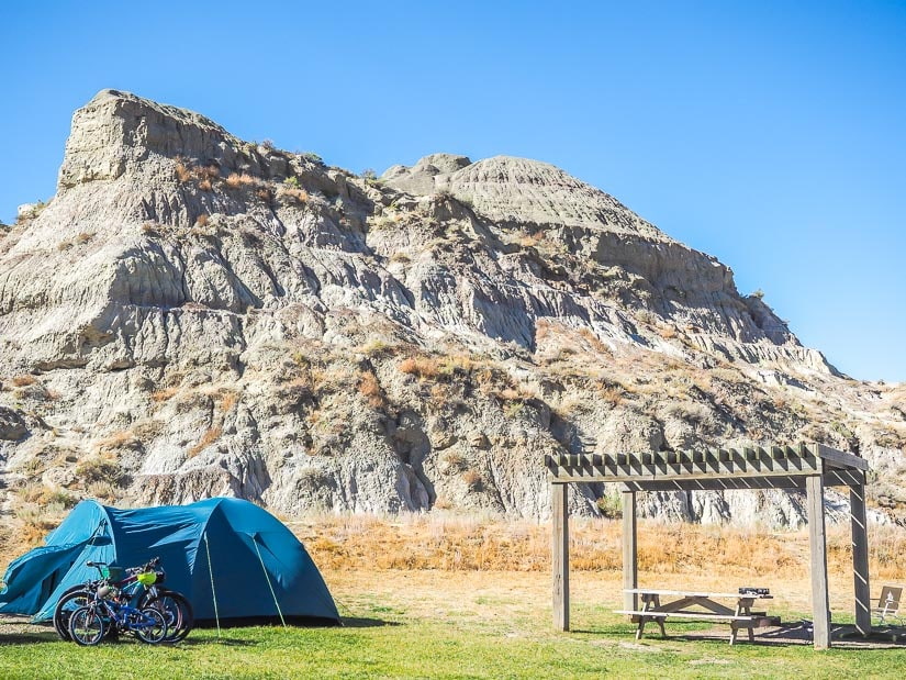 One of the best campsites in Dinosaur Provincial Park
