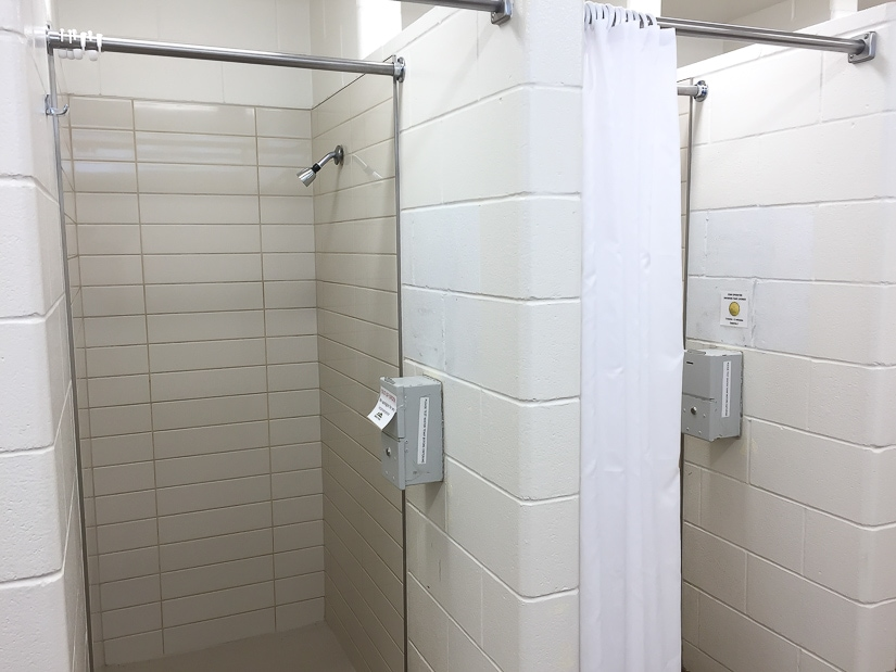 Showers at Dinosaur Provincial Park campground
