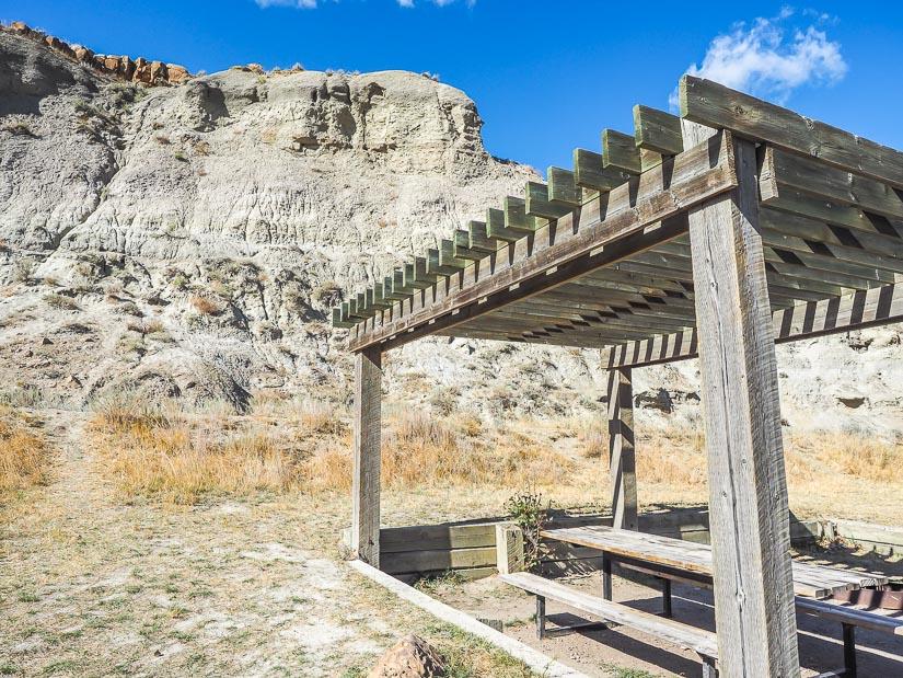 Campsite at Dinosaur Provincial Park