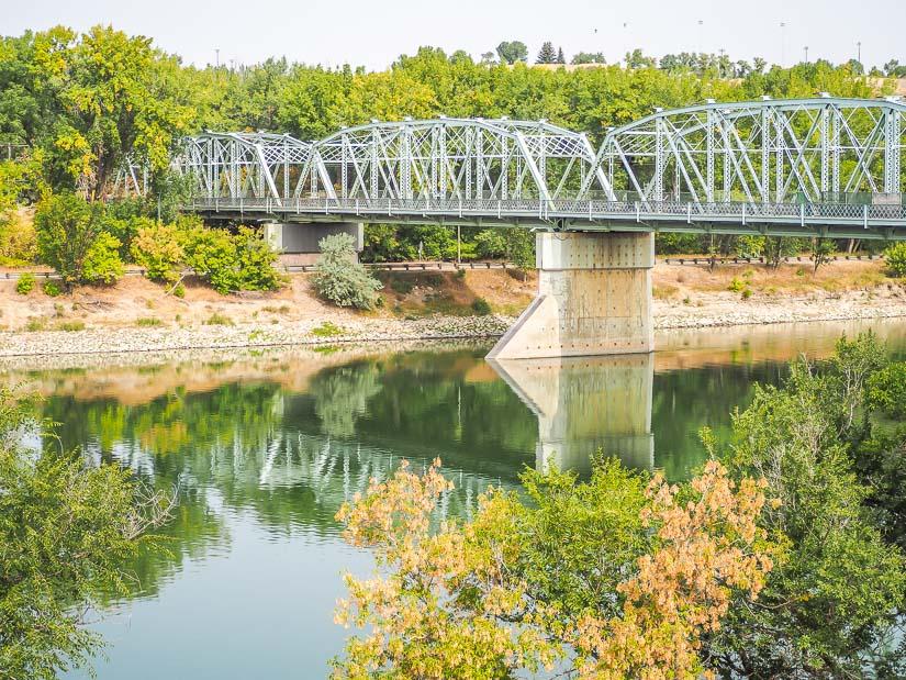 Finlay Bridge and the South Saskatchewan River in Medicine Hat