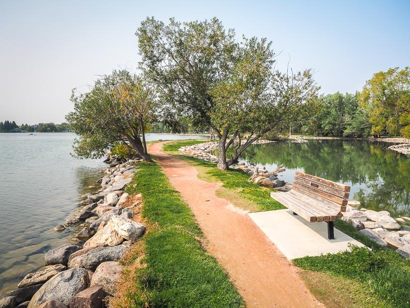 Path in Henderson Lake Park Lethbridge