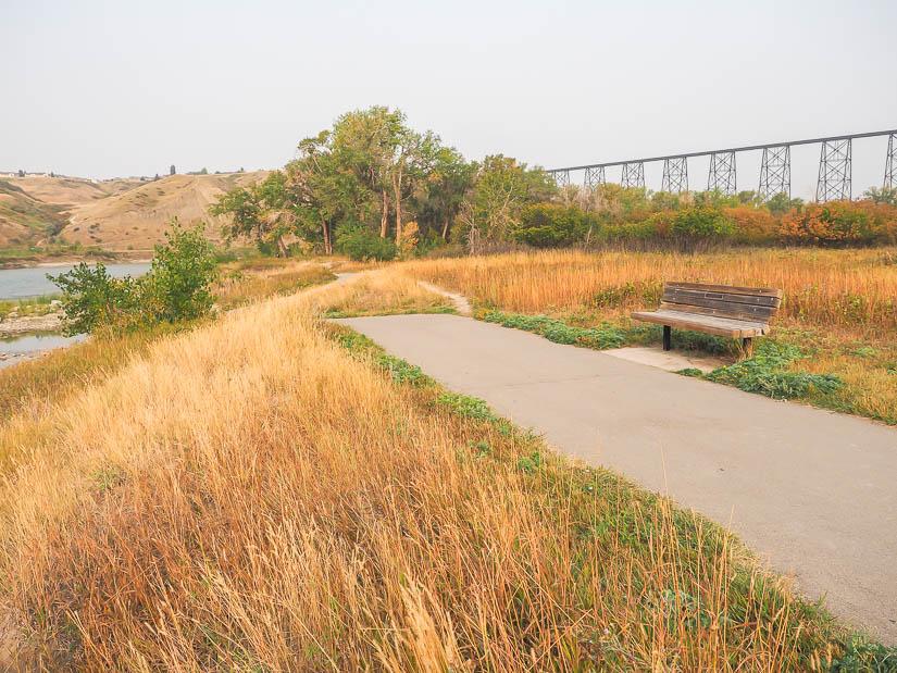 Walking trail in Indian Battle Park, Lethbridge