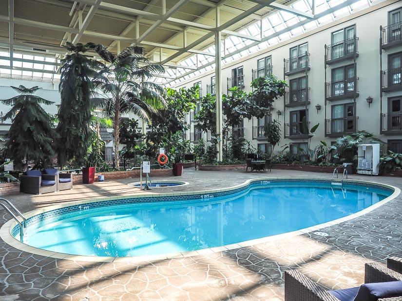 Swimming pool at Sandman Signature Lethbridge Hotel