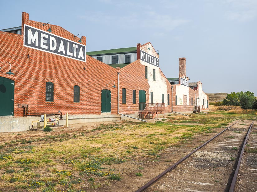 Medalta Potteries factory exterior at the historic clay district in Medicine Hat, Alberta