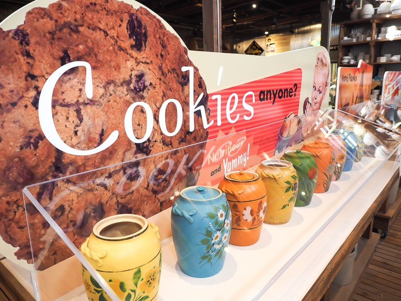 Cookie pots on display at Medalta historic site