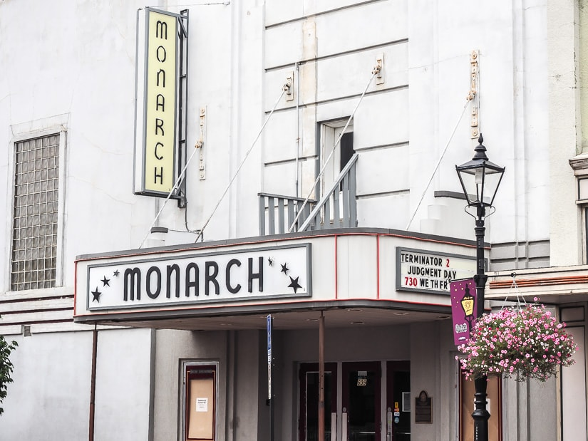 The outside of Monarch Theater in Medicine Hat, one of the oldest continously running theaters in the world