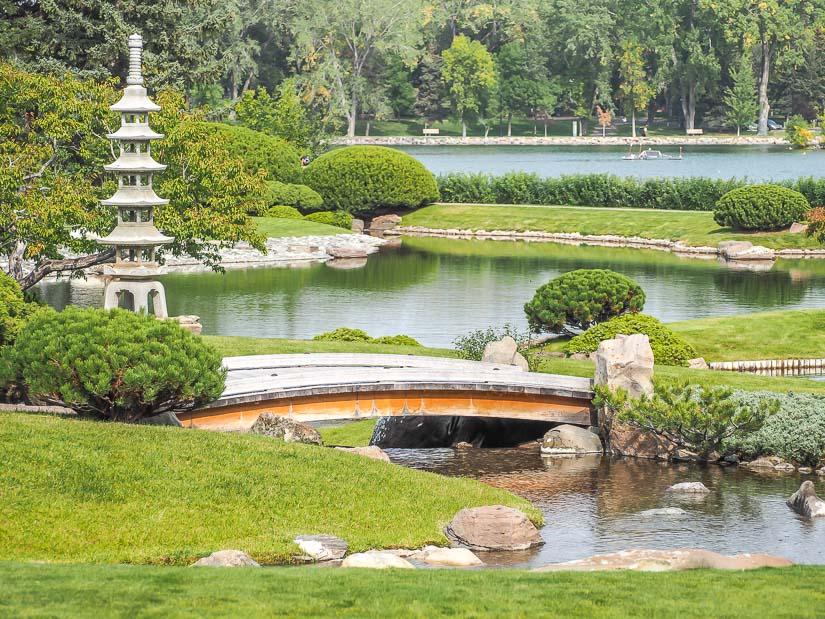 Ponds at Nikka Yuko Japanese Garden in Lethbridge