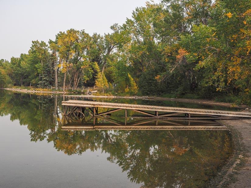 Dock at Park Lake Provincial Park, Lethbridge
