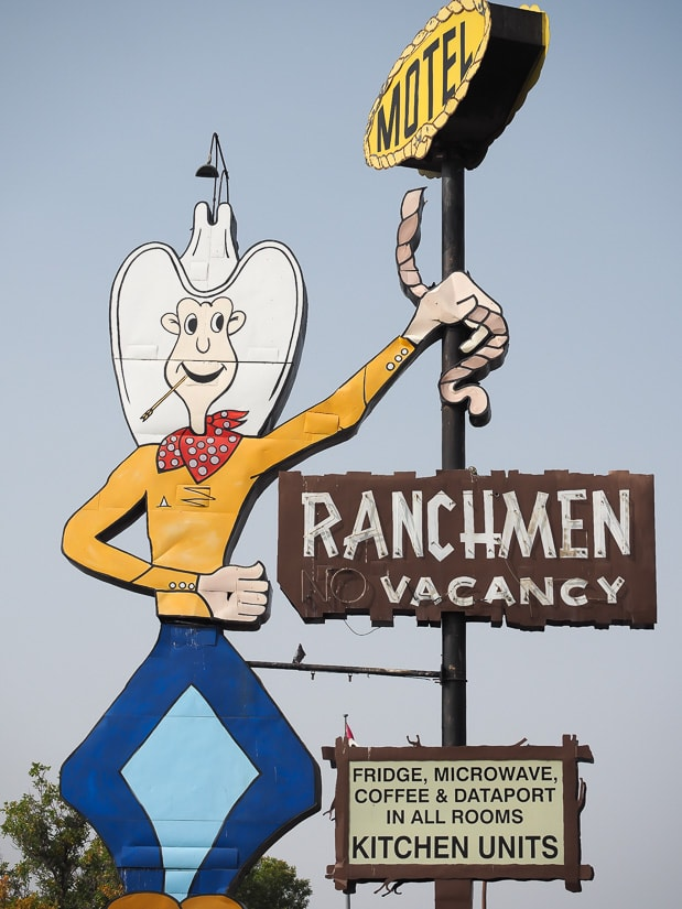 Ranchmen Motel sign, one of the most famous places in Medicine Hat
