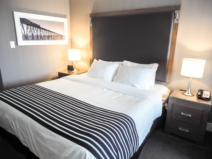 Hotel room at Sandman Signatue Lethbridge, one of the best places to stay in Lethbridge