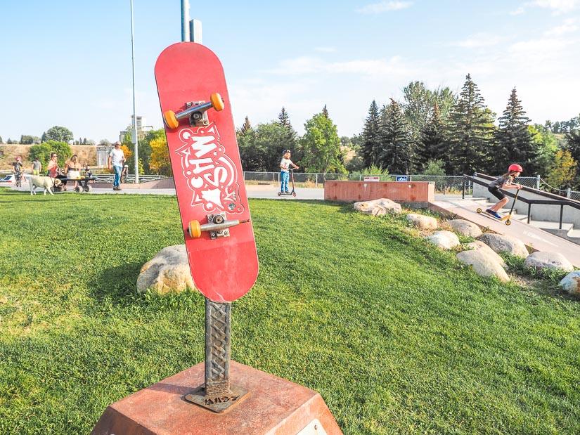 Skateboarding park in Kin Coulee Park