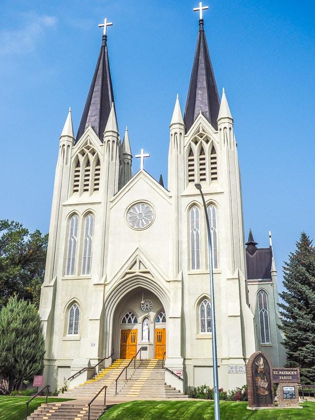 Saint Patricks Roman Catholic Church, a national historic site in Medicine Hat, Alberta
