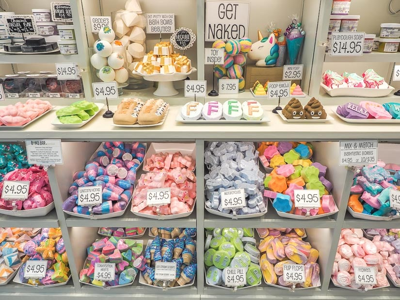Bath bombs at the Bomb Bar in Park Place Mall, Lethbridge